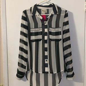 Black and white striped shirt!